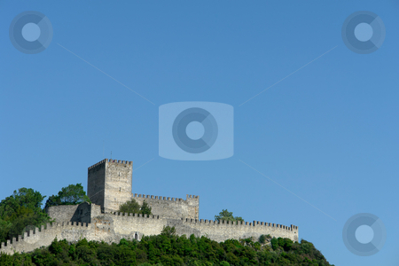 Castle stock photo, Ancient leiria castle in the top of the hill by Rui Vale de Sousa