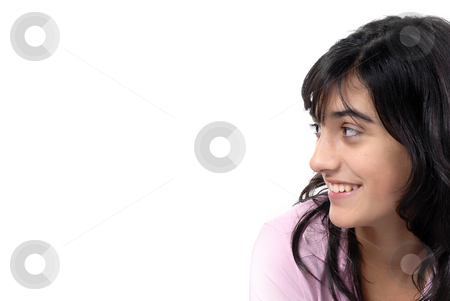 Teen stock photo, Young casual women smiling in a white background by Rui Vale de Sousa