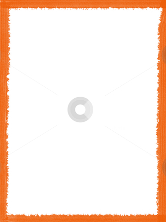 Frame stock photo, Decorative framework, some orange texture over white paper by Rui Vale de Sousa