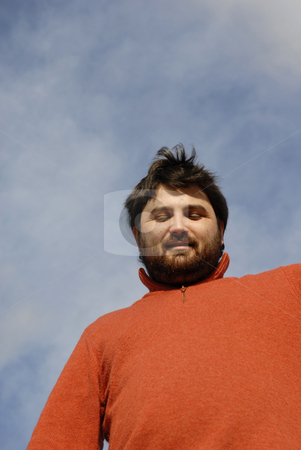 Enjoing stock photo, Young casual man with the sky as background by Rui Vale de Sousa
