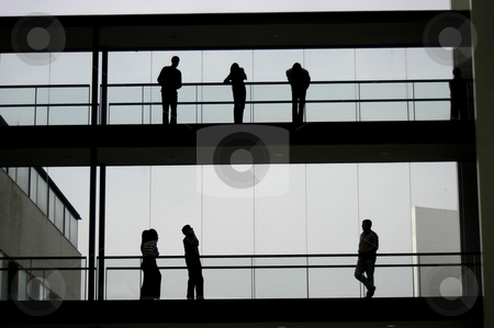 Working stock photo, Young business workers in the office building by Rui Vale de Sousa