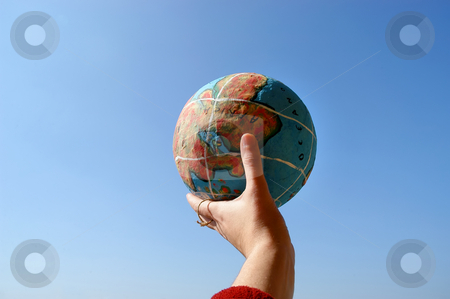 Globe stock photo, Hand with a globe by Rui Vale de Sousa