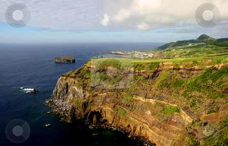 Coast stock photo, Azores coastal cliff at sao miguel island by Rui Vale de Sousa