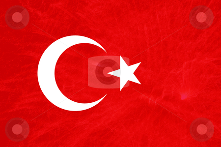 Turkish national flag stock photo, Turkey red and white flag illustration, computer generated by Rui Vale de Sousa