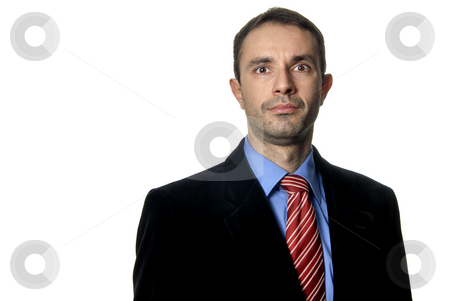 Young stock photo, Young business men portrait isolated on white by Rui Vale de Sousa