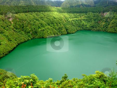 Lake stock photo, Lake of fire in sao miguel island, azores by Rui Vale de Sousa