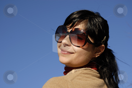 Happy stock photo, Young casual girl portrait in the sun light by Rui Vale de Sousa