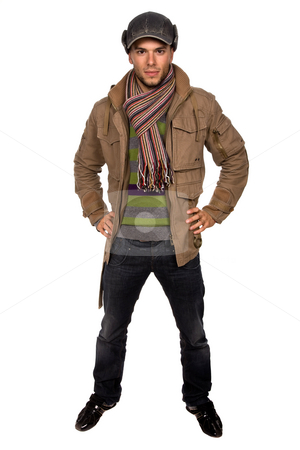 Youth stock photo, Studio picture of a young man dressed for winter by Rui Vale de Sousa