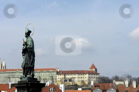 Prague stock photo, Saint statue in the old bridge of prague by Rui Vale de Sousa