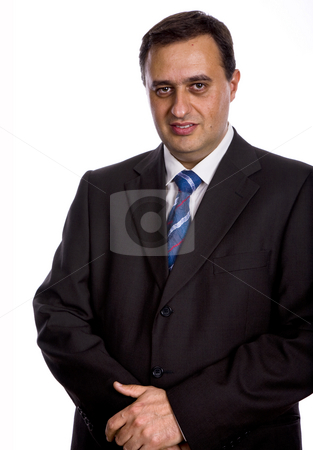 Stand stock photo, Young business men portrait isolated on white by Rui Vale de Sousa