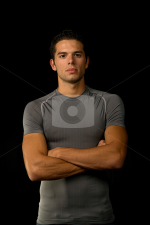 Casual stock photo, Young man portrait, on a black background by Rui Vale de Sousa