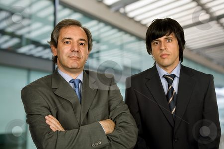 Businessmen stock photo, Two young business men portrait, focus on the right man by Rui Vale de Sousa