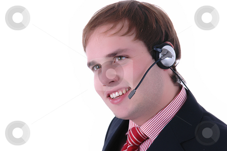Call stock photo, Young business man talking to a customer by Rui Vale de Sousa