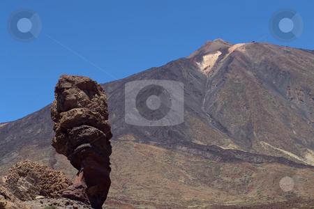 Rock stock photo, Big rock at el teide in tenerife island by Rui Vale de Sousa