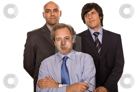 Workers stock photo, Three business man isolated on white background by Rui Vale de Sousa