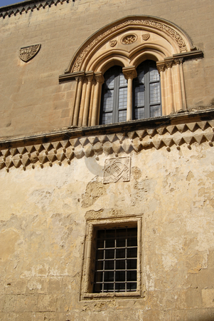 Gothic stock photo, Medieval gothic window of an ancient house in the island of Malta by Rui Vale de Sousa