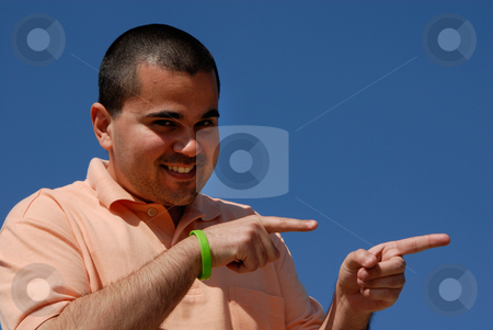 Silly stock photo, Casual man portrait with the sky as background by Rui Vale de Sousa