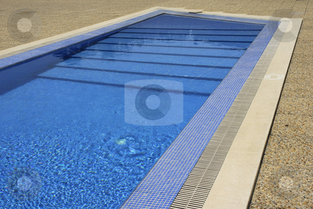 Swim stock photo, Swimming pool blue water in a summer day by Rui Vale de Sousa