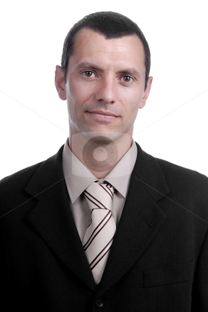 Young stock photo, Close up young man portrait isolated on white by Rui Vale de Sousa