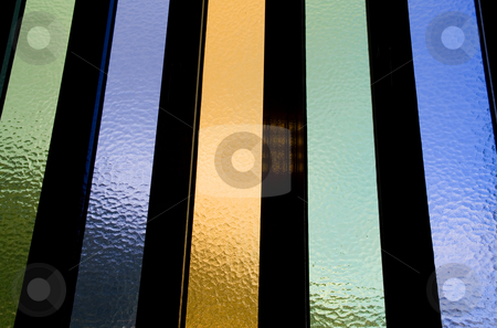 Color stock photo, Abstract colored and textured window glass detail by Rui Vale de Sousa