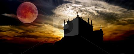 Church stock photo, Church at sunset near oporto in the north of portugal by Rui Vale de Sousa