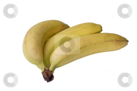 Bananas stock photo, Bunch of bananas isolated on white background by Rui Vale de Sousa