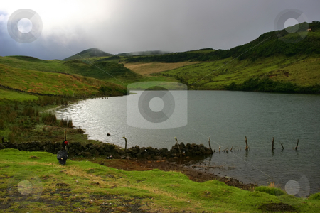 Lake stock photo, Azores small lake at the top of Pico island by Rui Vale de Sousa