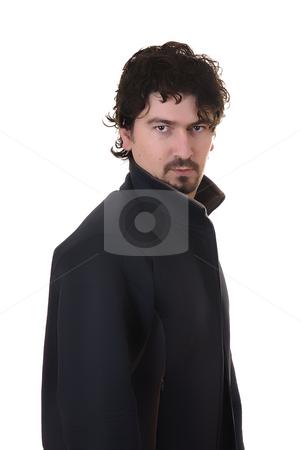 Portrait stock photo, Young casual man portrait in white background by Rui Vale de Sousa