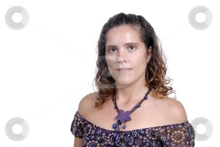 Posing stock photo, Beautiful young woman posing in white background by Rui Vale de Sousa