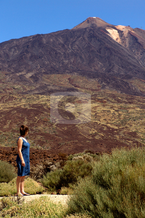Woman stock photo, Woman and the montain by Rui Vale de Sousa