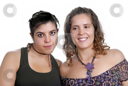 Women stock photo, Two young casual women, focus on the left woman by Rui Vale de Sousa