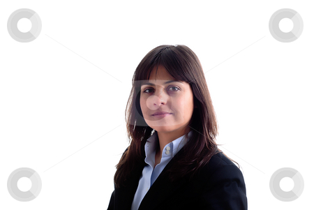 Woman stock photo, Successful business woman. Isolated over white background by Rui Vale de Sousa