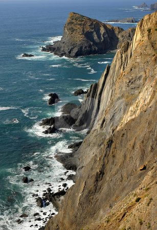 Waterfront stock photo, Coastal cliff at the south of portugal by Rui Vale de Sousa