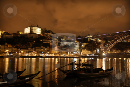 Oporto stock photo, Oporto town by night in the north of portugal by Rui Vale de Sousa