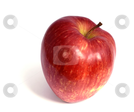 Apple stock photo, One red apple isolated on white background by Rui Vale de Sousa