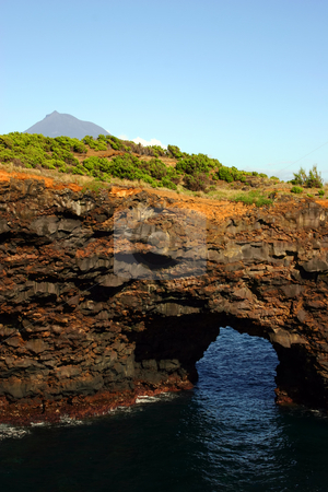 Cave stock photo, Azores coastal cliff detail at faial island by Rui Vale de Sousa