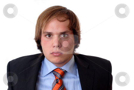 Man stock photo, Young confident businessman portrait isolated on white by Rui Vale de Sousa