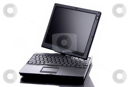 Computer stock photo, A personal computer isolated on white background by Rui Vale de Sousa