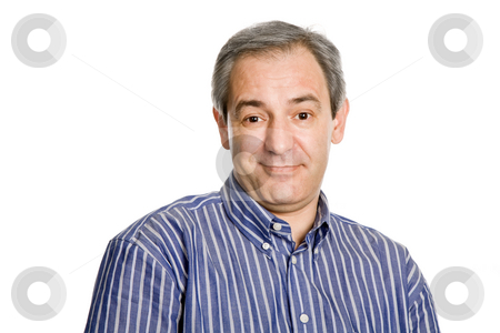 Casual man stock photo, Silly mature casual man, close up portrait by Rui Vale de Sousa