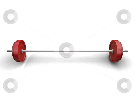 Weight on White stock photo,  by Kirsty Pargeter