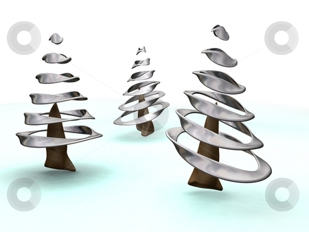 Christmas Trees stock photo,  by Kirsty Pargeter