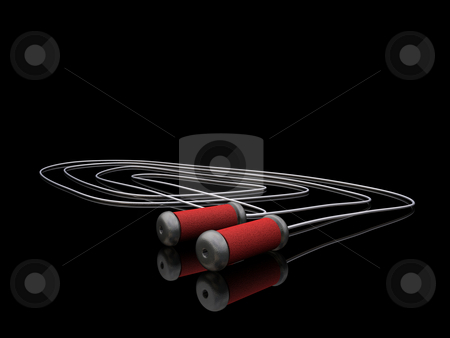 Skipping rope stock photo, 3D render of a skipping rope by Kirsty Pargeter