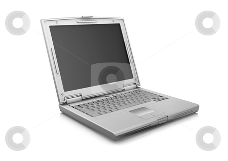 Laptop stock photo, 3D render of a laptop by Kirsty Pargeter