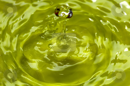 Drop stock photo, Water world - Falling a drop of water in yellow by Rui Vale de Sousa
