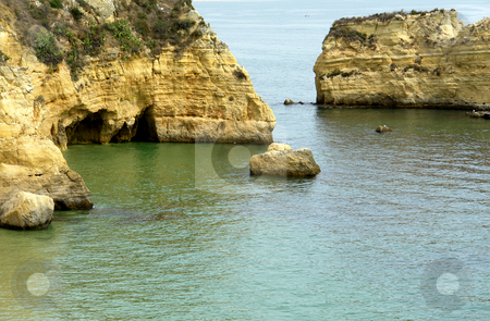 Cliff stock photo, Coastal rocks at the south of portugal by Rui Vale de Sousa