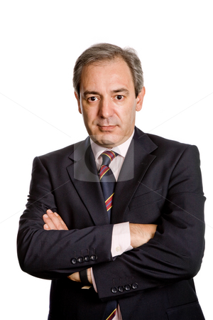 Businessman stock photo, Mature business man portrait in white background by Rui Vale de Sousa