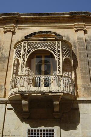 Gothic stock photo, Gothic window house in the old city, Malta by Rui Vale de Sousa