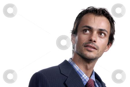 Portrait stock photo, Young business men portrait isolated on white. by Rui Vale de Sousa