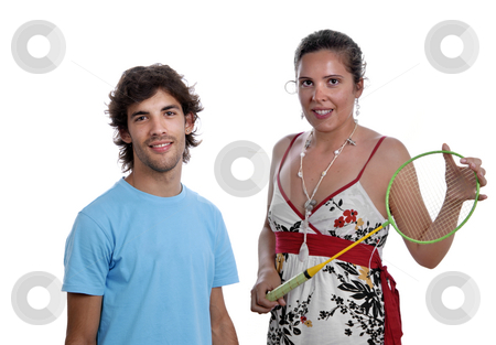 Casual stock photo, Young casual couple, focus on the man. by Rui Vale de Sousa