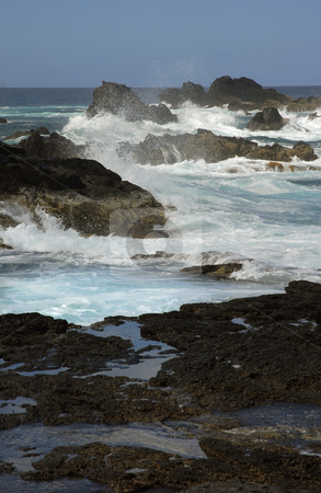 Waves stock photo, Rocks on the coast with ocean waves by Rui Vale de Sousa